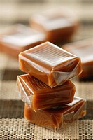 Pile of caramels