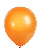 Orange balloon isolated on white