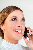 Young businesswoman with cellphone