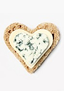 Bread,butter and blue cheese heart