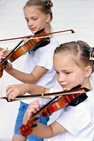 Sisters Playing Violin