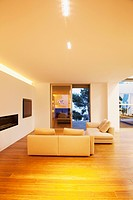 Sofas in modern living room