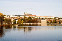 Prague Castle and River