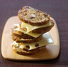 Gruyère dried fruit bread sandwich