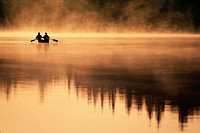 Canoeing on Misty Morning