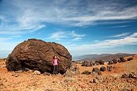Tenerife _ Woman Hiking on Teide