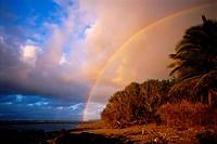 Rainbow over a Tropical Island