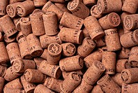 Stamped, cut corks await Champagne bottling at the Pol Roger & Co. winery. The name Churchill on the corks indicates that they are intended for the Cu...