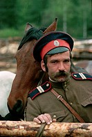 Cossack Horseman at St. Petersburg Corral