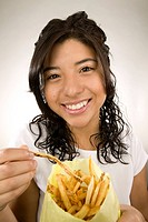 Girl with fries
