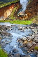 Geothermal area, Nesjavellir, Iceland / mud springs, Hengill