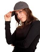 girl in baseball cap