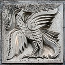 bas_relief of fairytale firebird