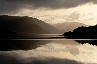 Loch Sunart in the Scottish Highlands after a storm. UK.