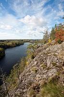 View from Haukkavuori hill, Rautjärvi Finland Europe
