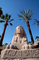 Sphinx Sculpture at Luxor