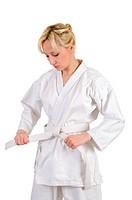 Karate girl.
