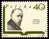 Polish poet Leopold Staff on postage stamp