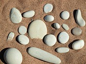 Pebble and sand