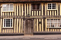 A Tudor house in Lavenham , Suffolk , England , Britain , Uk