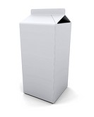 3D render of a blank milk carton