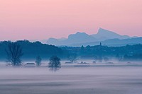 Europe, Germany, Bavaria, Berchtesgaden, Berchtesgaden land, Abtsdorf, Laufen, Haarmoos, Moos, Leobendorf, Abtsdorf lake, lake, protection, nature con...