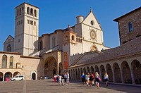 Basilica of San Francesco (Saint Francis), UNESCO World Heritage site, Assisi, Perugia province, Umbria, Italy