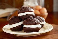 Homemade Whoopie Pies on a Plate