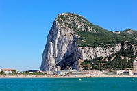 GIBRALTAR View of the rock from la Linea Cadiz province Spain