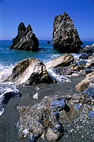 Rocks at Seaside in Calabria