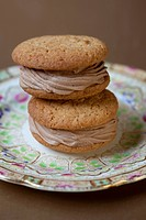 Chocolate cream filled whoopie pies