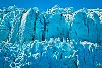 Close up of Margerie Glacier in Tarr Inlet, Glacier Bay National Park & Preserve, Southeast Alaska, Summer