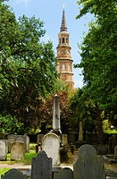 USA, South Carolina, Charleston, St. Philip´s Church and cemetery