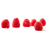 one raspberry and five