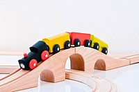 Toy Train On Railway