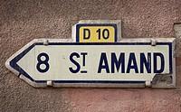 Historischer Wegweiser aus Keramik 8 St_AMAND D10