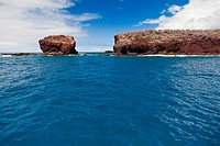 Puu Pehe aka Sweetheart Rock, Manele Bay, South Lana'i, Lana'i aka Pineapple Island because of its past as an island-wide pineapple plantation of Dole...