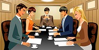 Business people in conference room (thumbnail)