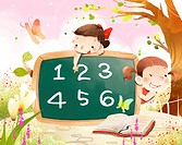 Girls learning numerical value