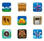 Travel set icon