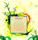 Chinese card with bamboo (thumbnail)