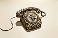 Phone with floral pattern