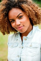 Portrait of young African American woman smiling (thumbnail)
