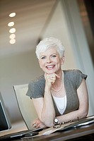 Portrait of smiling mature businesswoman