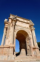 The Septimus Severus Arch at Leptis Magna, Libya