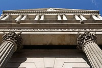 Bank of England building in the City of London, UK