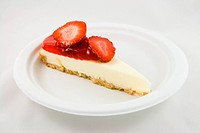 Slice of Strawberry Cheesecake