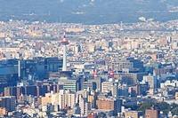 Cityscape of Kyoto, Kyoto Prefecture, Japan