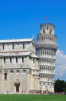 Pisa  Cathedral  Duomo  Leaning Tower, Piazza del Duomo  Cathedral Square  Campo dei Miracoli  UNESCO world heritage site  Tuscany, Italy, Europe.