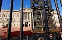 The gates of Buckingham Palace, London, UK
